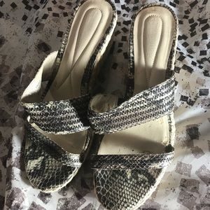 Snakeskin Wedges by Naturalizer